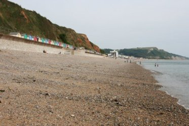 West beach, looking to Haven Cliff, Seaton
