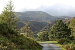 Wetherlam and road to Low Yewdale, Tarn Hows