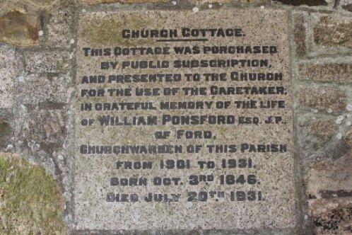 William Ponsford plaque, Church Cottage, Drewsteignton