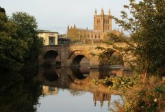 Wye Bridge and Hereford Cathedral, Hereford