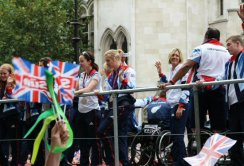 Athletics float. Olympic and Paralympic Victory Parade 2012