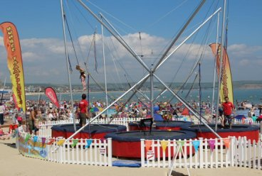 Bungee Trampolines. Weymouth and Portland Sailing, Olympic Games 2012
