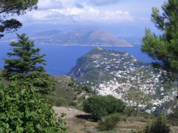 Capri and the Sorrento Peninsular, from Mount Solaro