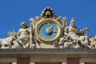 Clock above Marble Courtyard, Palace of Versailles