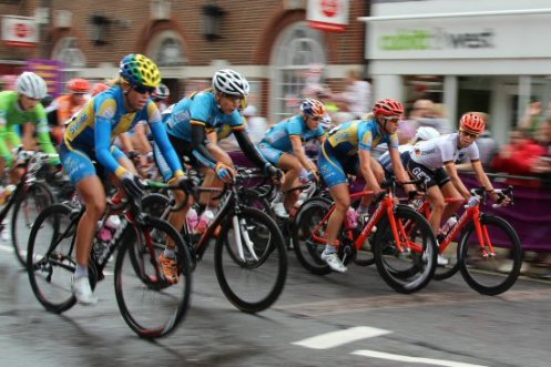 Cyclists, Dorking. Women's Olympic Road Cycling Road Race, 2012