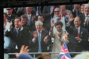 David Cameron, Boris Johnson, Princess Anne and Prince Edward. Olympic and Paralympic Victory Parade 2012