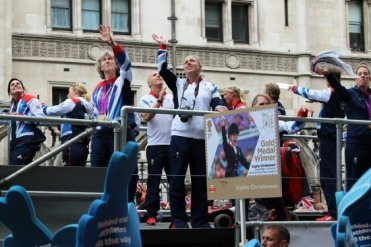 Deborah Criddle, Equestrian. Olympic and Paralympic Victory Parade 2012