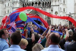 Dragon, The Royal Courts of Justice. Olympic and Paralympic Victory Parade 2012
