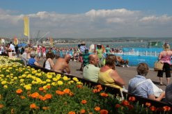 Flower display, Esplanade. Weymouth and Portland Sailing, Olympic Games 2012