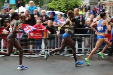 Incerti, Italy, Andersson, Sweden and Kibet, Netherlands. Women's Olympic Marathon, 2012