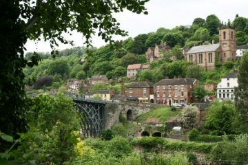 Ironbridge, from the south bank