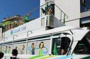 Lloyds TSB promotional vehicle. Olympic Torch Relay, Richmond 2012