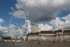 London Eye and County Hall. Women's Olympic Marathon, 2012