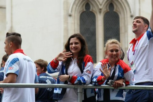 Louis Smith, Gymnastics and Handball float. Olympic and Paralympic Victory Parade 2012