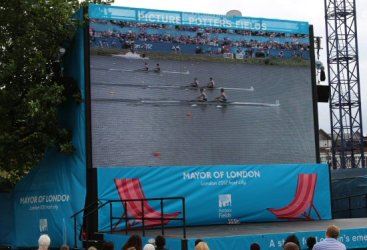 Men's Lightweight Double Sculls, Live Site, Potters Fields. London 2012 Olympic Games