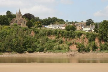 St. Peter's Church and Newnham, across the River Severn Estuary, from Arlingham