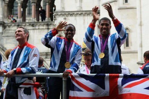 Nicola Adams and Anthony Joshua, Boxing. Olympic and Paralympic Victory Parade 2012