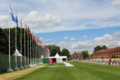Official area, Hampton Court Palace, Men's Olympic Road Cycling Road Race, 2012