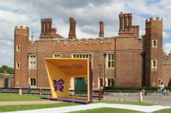 Official area, Hampton Court Palace. Olympic Road Cycling Time Trials, 2012