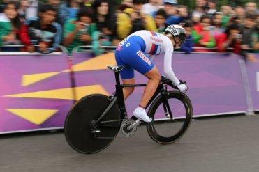 Olga Zabelinskaya, Russia, Bronze Medal, Hampton Court. Olympic Road Cycling Time Trials, 2012