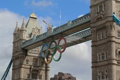 Olympic Rings, Tower Bridge. London 2012 Olympic Games