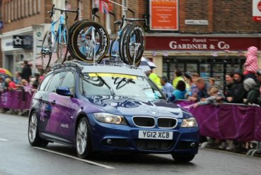 Organisation car, Dorking. Women's Olympic Road Cycling Road Race, 2012