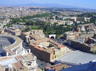 Rome, from St. Peter's Basilica, Vatican City
