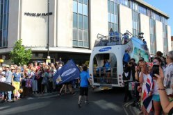 Samsung promotional vehicle. Olympic Torch Relay, Richmond 2012