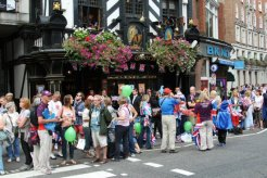 Spectators, The George, Strand. Olympic and Paralympic Victory Parade 2012