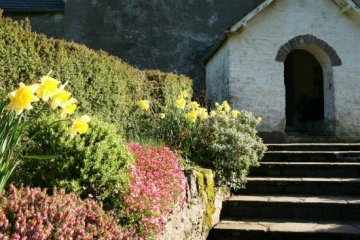 Entrance to St. Mary's Church, Oare, Exmoor (Lorna Doone Country)