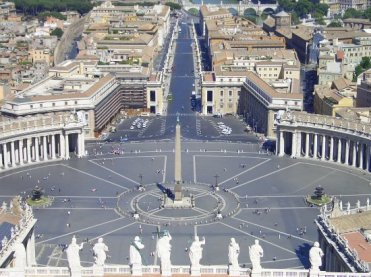St. Peter's Square, from the Cupola of St. Peter's Basilica, Rome