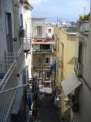 Street in Naples, from Corso Vittorio Emanuelle