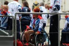Table Tennis, Taekwondo and Wheelchair Tennis float. Olympic and Paralympic Victory Parade 2012