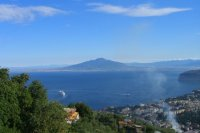 Vesuvius, across the Bay of Naples