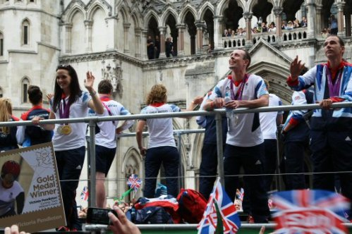 Victoria Pendleton, Cycling. Olympic and Paralympic Victory Parade 2012