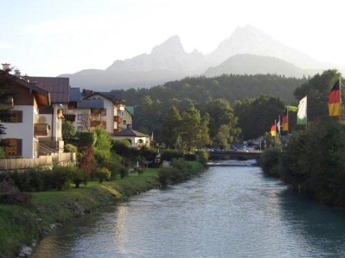 Watzmann Mountain, overlooking the River Ache, Berchtesgaden