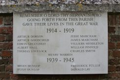 First and Second World Wars Memorial, St. Mary's Church, Aldworth