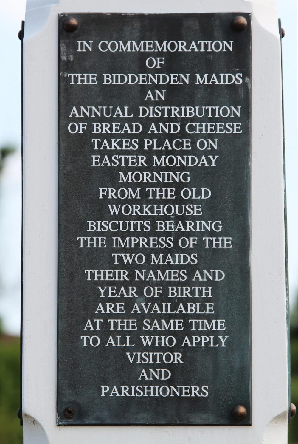 Information board, The Biddenden Maids Village Sign, Biddenden