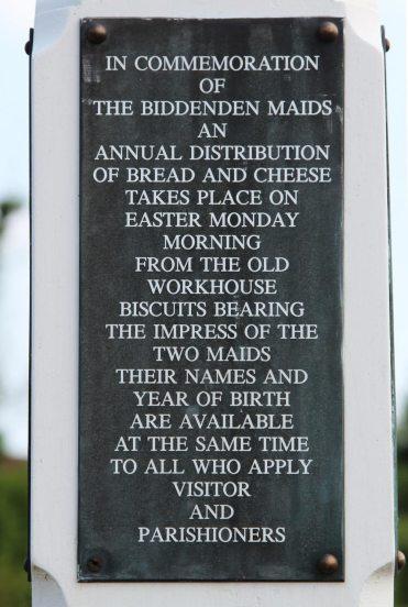 Information board, The Biddenden Maids Village Sign, Biddenden