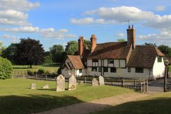 Isaacs and Butlers Cottage, from St. Peter and St. Paul Churchyard, Yattendon