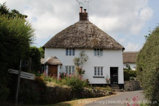 Thatched cottages, North Bovey, Dartmoor