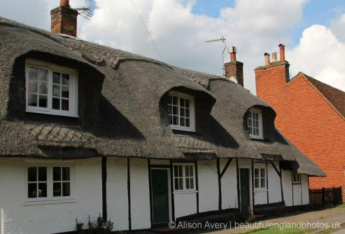 Thatched cottages, Stocks Road, Aldbury