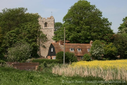 Church Cottage and St. Dunstan's Church, Snargate, Romney Marsh