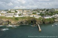 Harbour entrance, from coast path to Lobber Point, Port Isaac