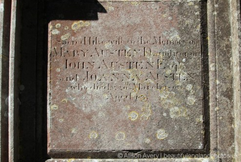 Inscription on the Austen Family Tomb, St. Margaret's Churchyard, Horsmonden