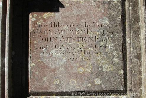 Inscription on the Austen Family Tomb, St. Margaret's Churchyard, Horsmonden
