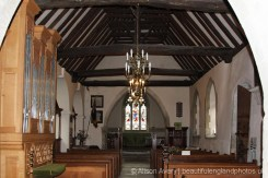 Interior, St. Mary's Church, Turville (St. Barnabas Church, in Vicar of Dibley)