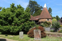 Town Farm Oast, from All Saints Churchyard, Brenchley