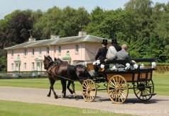 Bride arriving at Royal Lodge, Windsor Great Park, Windsor