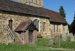 Gallery Steps and South Porch, St. James Church, Shere